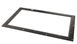 Panel mount monitors with additional front bezel