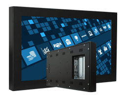 LCD monitor for industrial applications with VESA mounting